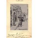 Shoemaker Saluting German Guard Woven Silk