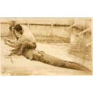 Coppinger Holding Open Alligator's Jaw FL Miami RP