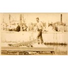FL Miami Alligator Wrestler Coppinger Real Photo