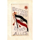 Embroidered Silk German Flag