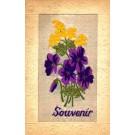 Woven Silk Violets Souvenir