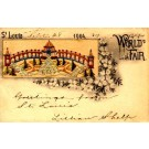 St. Louis World's Fair 1904 Embroidered Silk