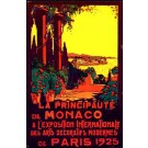 Paris Expo 1925 Monaco Art Deco Travel Poster