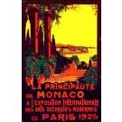 Paris Expo 1925 Monaco Art Deco Travel Poster