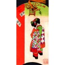 Two Ladies Wooden Novelty Japanese Geisha