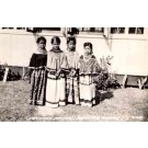 FL Brighton Seminole Indian Girls Real Photo