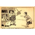 Irish Woman Asking John Bull Political Satire