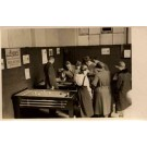 Family Looking at Billiards Players Real Photo