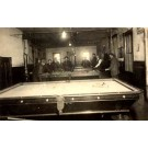 Eight Players by Two Billiards Tables Real Photo