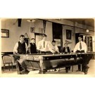 Billiards Palyers Around Table Real Photo
