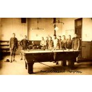 Military Playing Billiards Real Photo