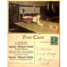Girl on Billiards Table Advert Billiard Chalk
