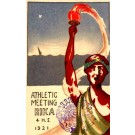 Athlete Holding Up Torch Meeting 1921