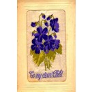 Violets for Child Woven Silk