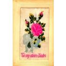 Rose for Sister Woven Silk