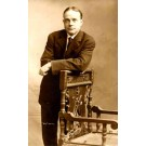 Evangelist Billy Sunday by Chair Real Photo