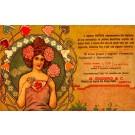 Advert Dental Powder Lady Art Nouveau