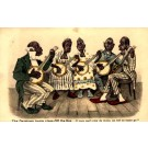 Blacks Playing Banjo Currier & Ives Design