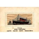 Embroidered Silk Ocean Liner Lusitania