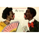 Black Couple Kissing Novelty