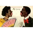 Black Couple Kissing Novelty