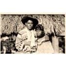 Seminole Indian Cowboy and His Bride FL RP
