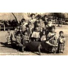 Seminole Indian Children Alligator FL RP