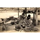 Seminole Indians Cooking FL Miami Real Photo