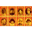 Black Boy Star on Stamp