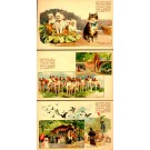 Expo 1900 Animal Protection Cats Dogs Set