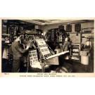 Operators at Rotary Bill Machines Real Photo