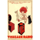 Advert Radio Tube Girl Dogs