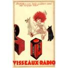 Advert Radio Tube Girl Dogs