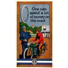 Motorcyclist Giving Money Advert Tires