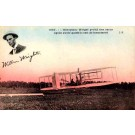 Pilot Wright on his Biplane French