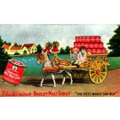 Advert Syrup Donkey-Drawn Carriage with Cans
