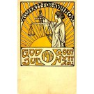 Suffrage Congress 1911 Woman with Scale