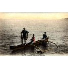 Hawaiian Fishermen in Canoe