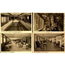 Cunard Line Interior of Aquitania Set