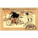 Advert Chocolate Motorcyclist over Goose