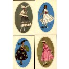 Art Deco Fansy Dressed Girls Set