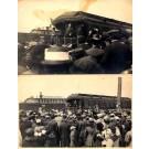 President Taft Giving Speech from Train Real Photo