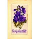 Woven Silk Violets