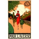 Castle Walk Advert Raincoat Belgian Art Deco