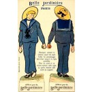 Advert French Department Store Paper Doll Novelty