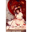 Advert Tea Umbrella Lady British