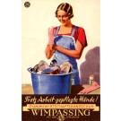 Advert Washing Gloves German