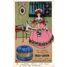 Advert Knitting Yarn Lady British