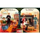 Advert Soap Piano Fireplace Cat