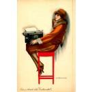 Advert Typewriter Art Deco Italian